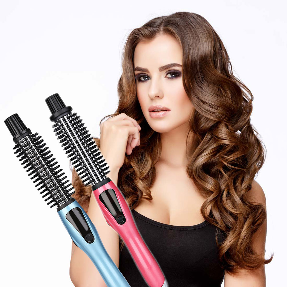 Professional Salon Tapered Ceramic Curling Iron Wave Wand Hair Curler Comb Hair Care Styling Tools US Plug EU Plug kemei km 211 professional electric ceramic curling iron hair curler straightener hair care styling salon tools with eu plug