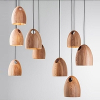Modern Lights Pendant , Solid Wood Lamp Lighting Fixture Chandelier Style for Cafe Bar Living Room E27 220V