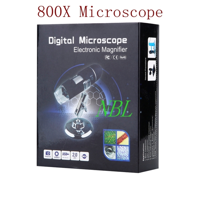 800X HD Electronic Microscope USB 0X-800X Digital Endoscope Camera Microscopes 8*LED CMOS Sensor Magnifier Stand Optical Loupes