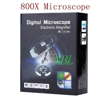 Sale 800X HD Electronic Microscope USB 0X-800X Digital Microscope 8*LED CMOS Sensor Magnifier Optical Loupes With Stand Retail Box