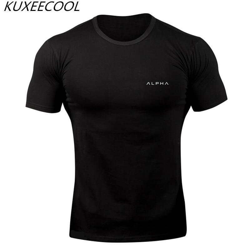 2018 Männer Frühling Und Sommer Sportsing Fitness Frühling, Stretch, Baumwolle Freizeit Ausrüstung übung T-shirt. Zahlreich In Vielfalt