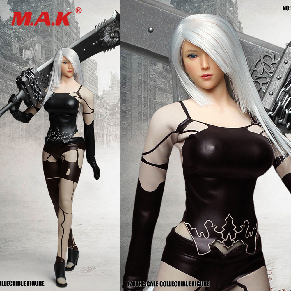 1/6 Scale Sexy Female Figure SET030 Cosplay Series NIER AUTOMATA YORHA Head Clothes Weapon Model for 12 Action Figure Body1/6 Scale Sexy Female Figure SET030 Cosplay Series NIER AUTOMATA YORHA Head Clothes Weapon Model for 12 Action Figure Body