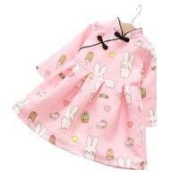 새로운 브랜드 겨울 소녀 치파오 드레스 디자인 긴 소매 공주 드레스 어린이 두꺼워 꽃 파티 의류