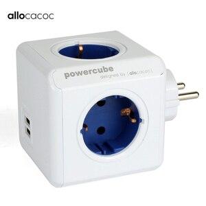 Image 1 - Allocacoc euプラグpowercube電気usbコンセントeuプラグ電源ストリップマルチ延長ソケットアダプタ旅行アダプタースマート家庭