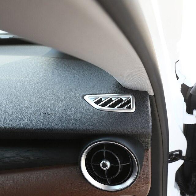 pour alfa romeo stelvio 2017 tableau de bord air conditionn sortie d coratif cadre de voiture. Black Bedroom Furniture Sets. Home Design Ideas