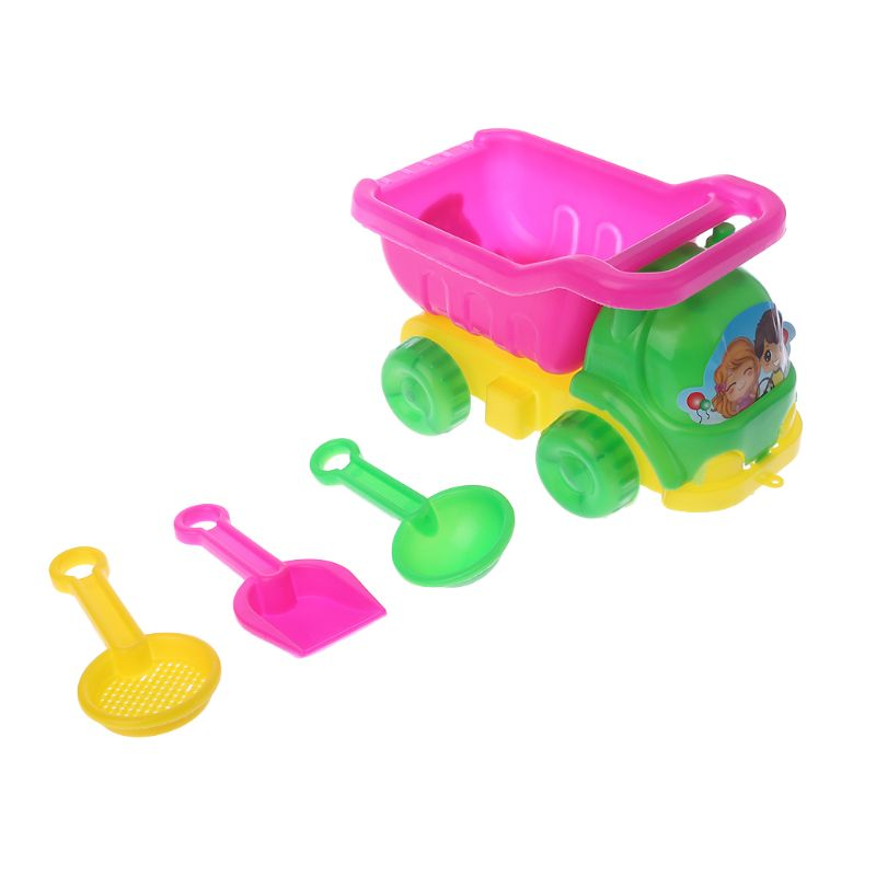 4pcs/set Mini Sand Beach Game Car Rakes Toys Dredging Tool For Children Boys Girls Outdoor Christmas Gifts