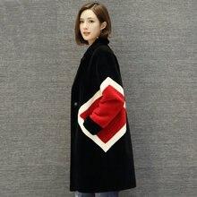 Mouton Coat female jacket women's jacket fur coat Sheepskin coat Women's winter jackets real fur women's fur coats winter