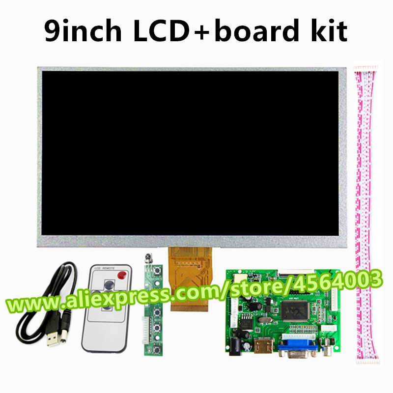 9 Inch For Raspberry Pi 3 Display Screen Matrix TFT LCD Monitor 1024*600 With HDMI VGA AV Input Audio Driver Board Controller