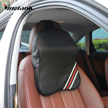 Vingtank 3D Memory Foam Car Headrest Pillow Neck Support Pillow Car Seat Pillow Relieve Fatigue Breathable Removable Cover