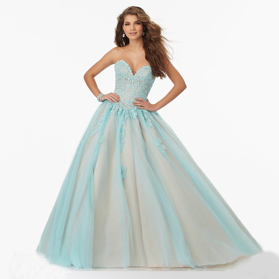 Beautiful Party Gowns Two Colors Sweetheart Sexy Nude and White ...