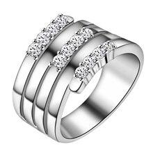 round shiny zircon bling zircon Silver plated Ring Fashion Jewerly Ring Women&Men , /NUYPYLCA MTVGFTCB