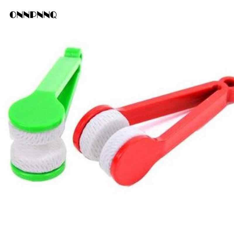 2 шт./лот портативные очки ручка щетка для чистки мебель для дома стекло Стеклоочиститель очки Чистая щетка