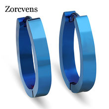 ZORCVENS Big Round Female Earring Rose Gold/Gold/Silver/Blue High Polished Stainless Steel Earring for Woman Wholesale(China)