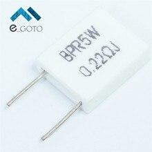 20 шт. 5 Вт цемента резистор 0.22R 0.22 Ом неиндуктивный резистор BPR56 сопротивление цемента