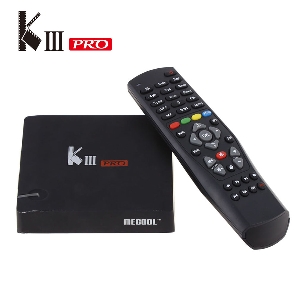 Prix pour En Stock! KIII Pro DVB T2/S2 3G 16G TV Box Android 6.0 Amlogic S912 Octa-core 4 K * 2 K 2.4G & 5G Wifi Bluetooth 4.0 Android tv boîte