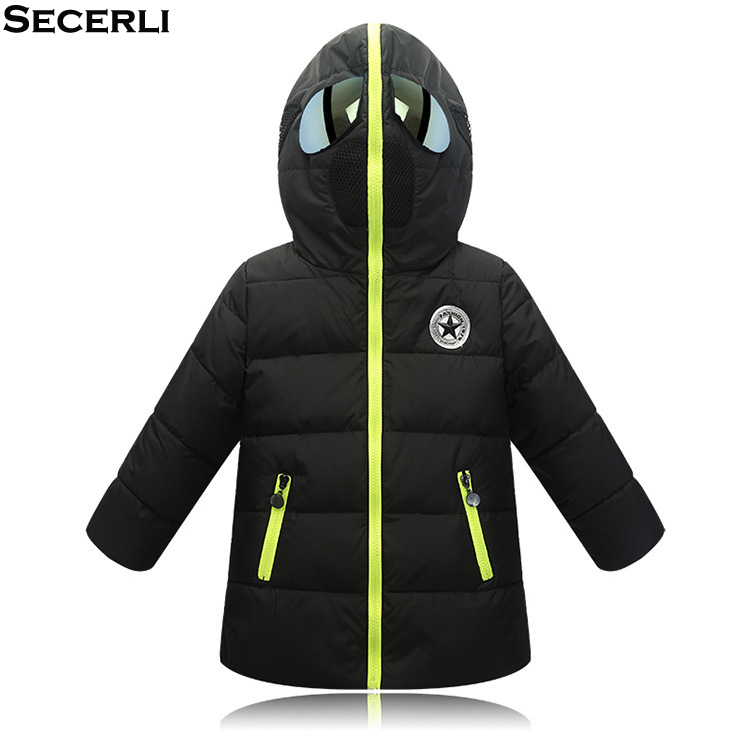 2018 Glasses Hooded Girls Boys Winter Coat Long Sleeve Boys Winter Jacket WindProof Children Kids Winter Parkas 4 to 12 Years new men jackets winter cotton padded jacket men s casual zipper warm parka fashion stand collar thicken print outerwear coat