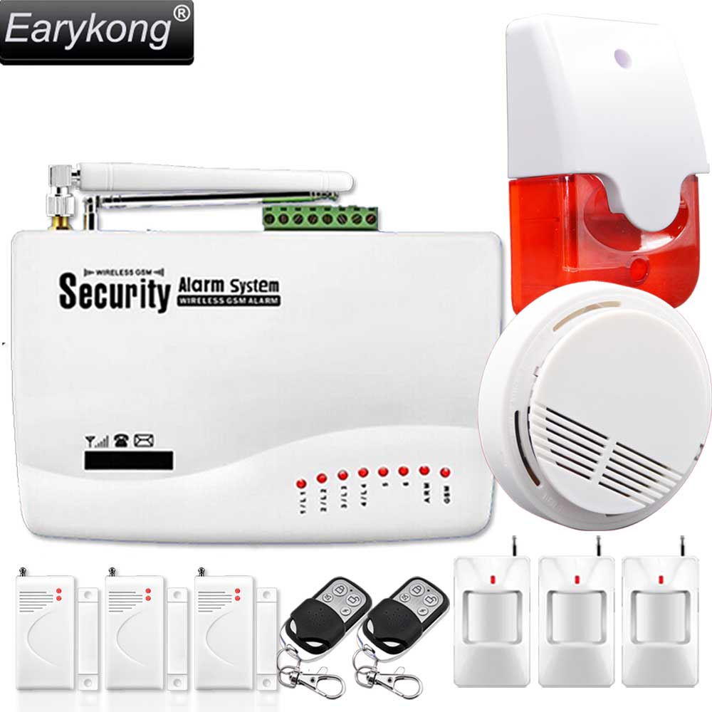 433MHz Wireless GSM font b Alarm b font System For Home Security font b Alarm b