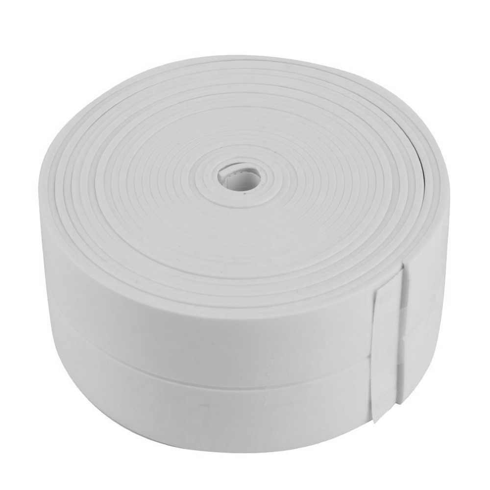 3.4m x 38mm banho pia do chuveiro do banheiro fita tira de vedação pvc branco auto adesivo à prova dwaterproof água adesivo de parede para cozinha do banheiro