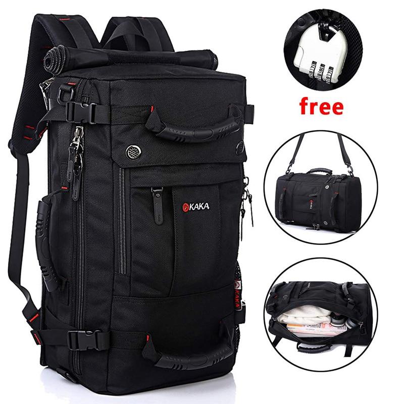 KAKA мужской рюкзак, дорожная сумка 40 л, вместительный водонепроницаемый рюкзак из полиэстера, женские высококачественные сумки для багажа на плечо|Рюкзаки|   | АлиЭкспресс