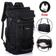 KAKA 남자 배낭 여행 가방 40L 대용량 폴리 에스터 방수 배낭 여자 고품질 어깨 가방 가방 Bagpack