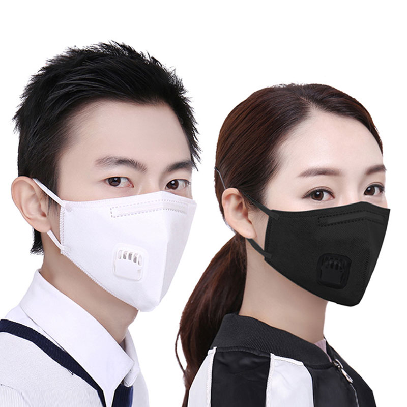 цена на 2Pcs/Lot Fashion Unisex Cotton Breath Valve Mouth Mask Anti-Dust Anti Pollution Mask with Activated carbon filter respirator