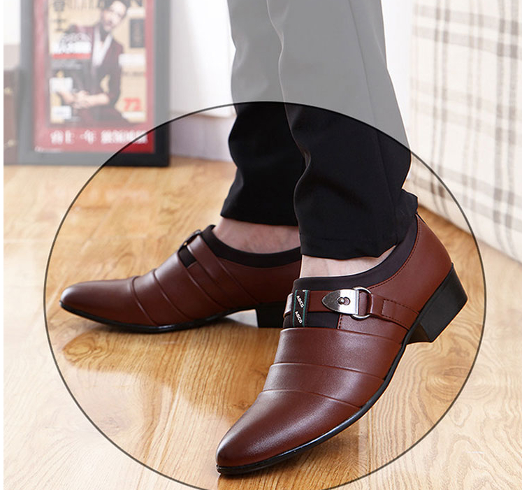 Spring men's shoes business dress pointed pu leather shoe male Korean version of the young England men's casual trend Oxfords