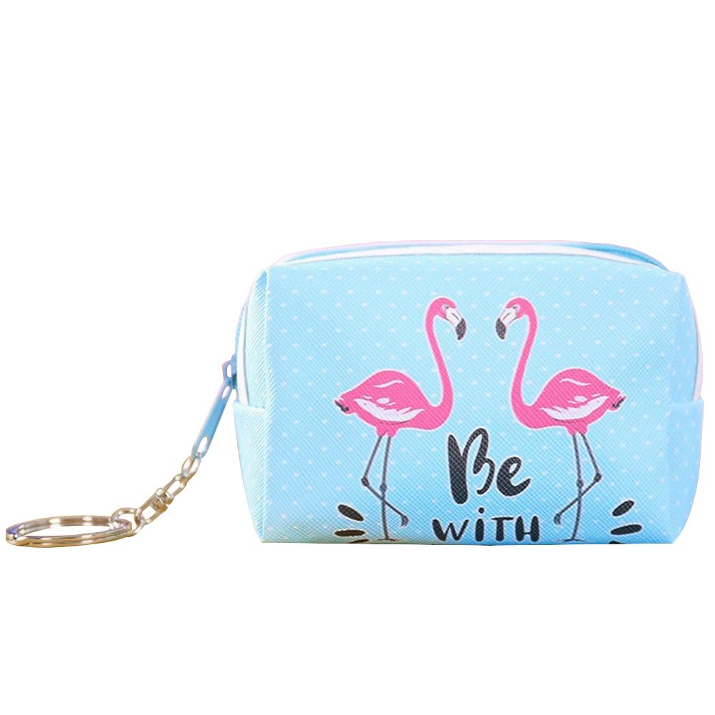 SANWOOD Cartoon Flamingo Leather Women Card Coin Purse Wallet Clutch with Keyring cute purse women wallet designer pursesSANWOOD Cartoon Flamingo Leather Women Card Coin Purse Wallet Clutch with Keyring cute purse women wallet designer purses
