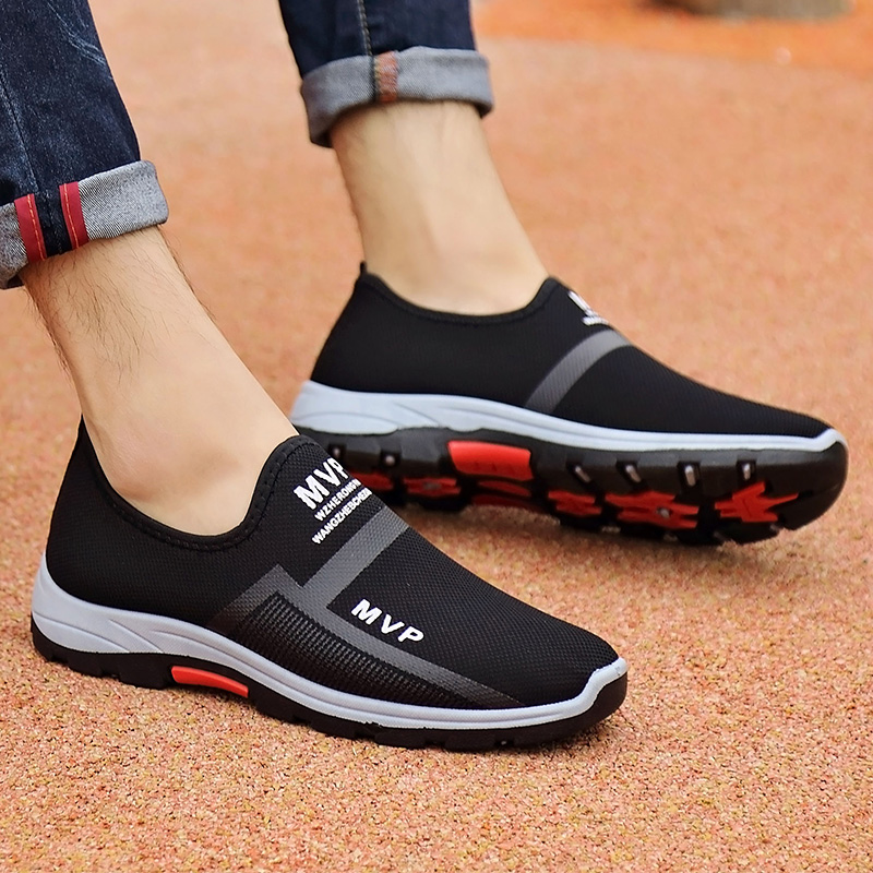 2019 New Men Vulcanize Shoes Summer Comfortable Slip-on Sneakers Anti-Skid Breathable Loafers Men Fashion Shoe Zapatillas Hombre