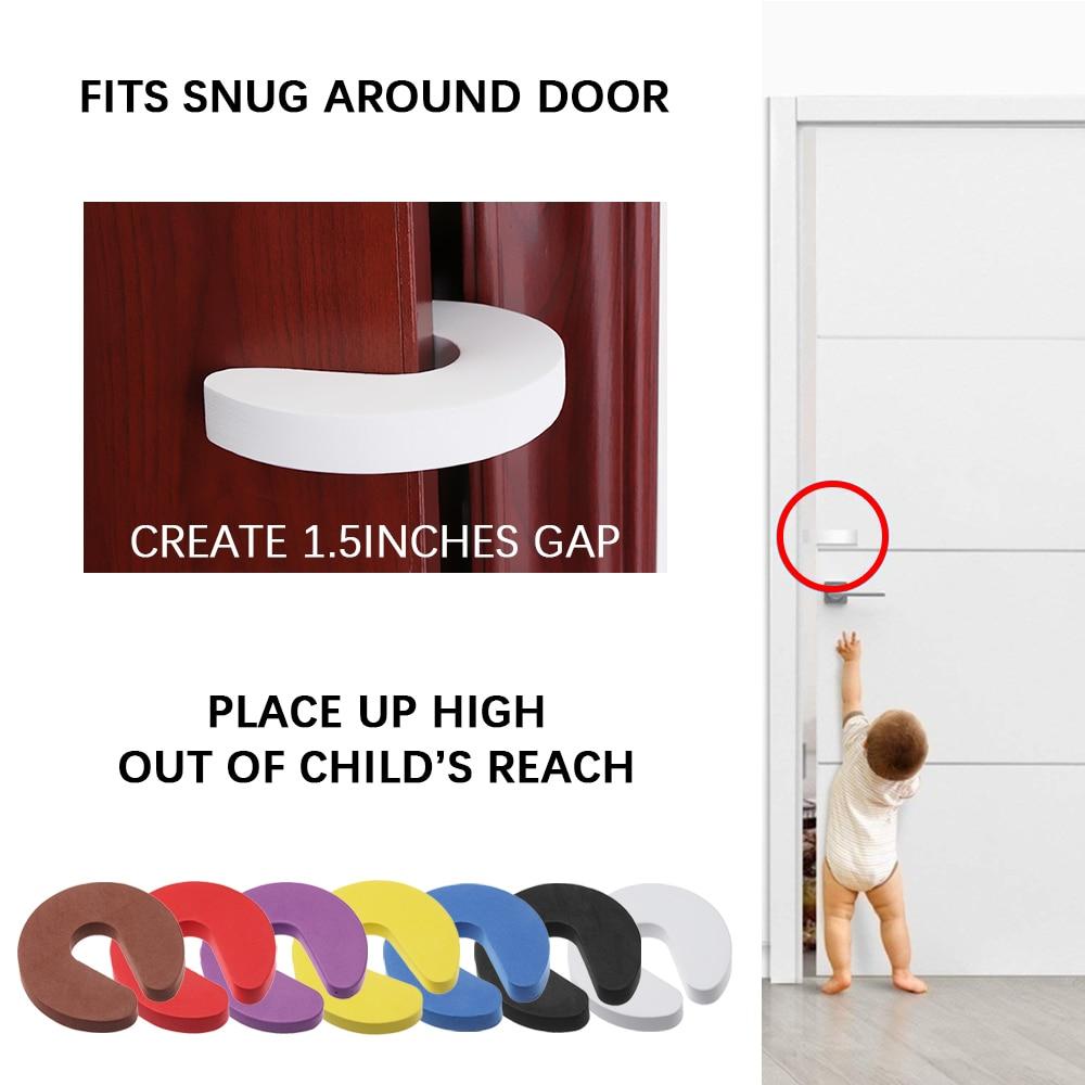 1 шт. детские защитные замки, защита детей, EVA C Форма безопасности, замки для шкафа, дверной зажим, безопасный для пальцев, мягкий пенопластовый Ограничитель для двери