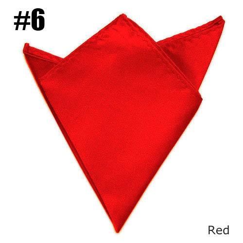 Gentlemen Pocket Square Red Wedding Satin Match Suit