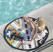 NUEVO Gigante Mandala Tapiz Colgante de Pared Ducha de Playa Verano Manta Toalla Verano Grande impreso Ronda Círculo Tamaño 150×150 cm