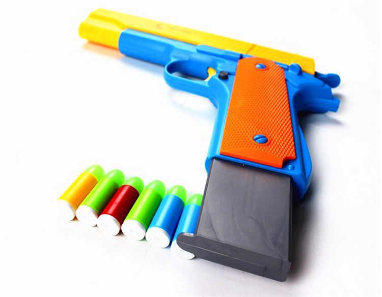 1 шт классический M1911 игрушки пистолет детская игрушка Пистолеты мягкие пулевой пистолет пластиковый револьвер для детских игр под открытым небом игры игрушка Стрелялка