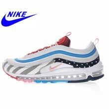 Qualité d'origine Nike Air Max 97 Chaussures Blanc Gris