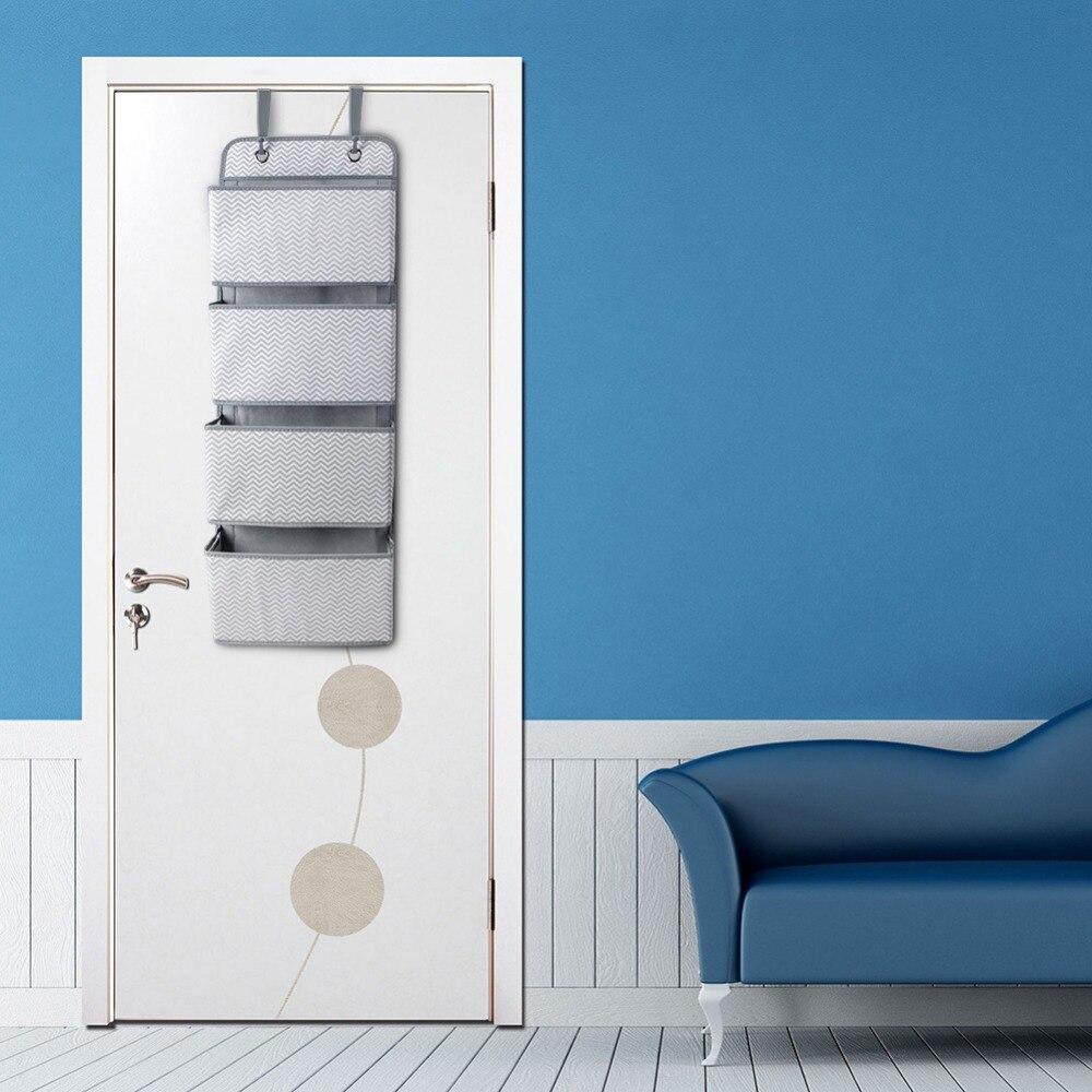 Image 3 - High Quality 4 Pockets Door Back Wall Bedside Cabinet Wardrobe Hanging Bag Storage Organizer for Sundries Underwear ToysHanging Organizers   -