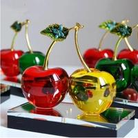 Cherry, creative home decorative crystal crafts, wedding gifts and Christmas gifts