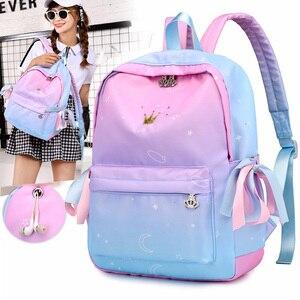 Women Backpacks Pink Printing