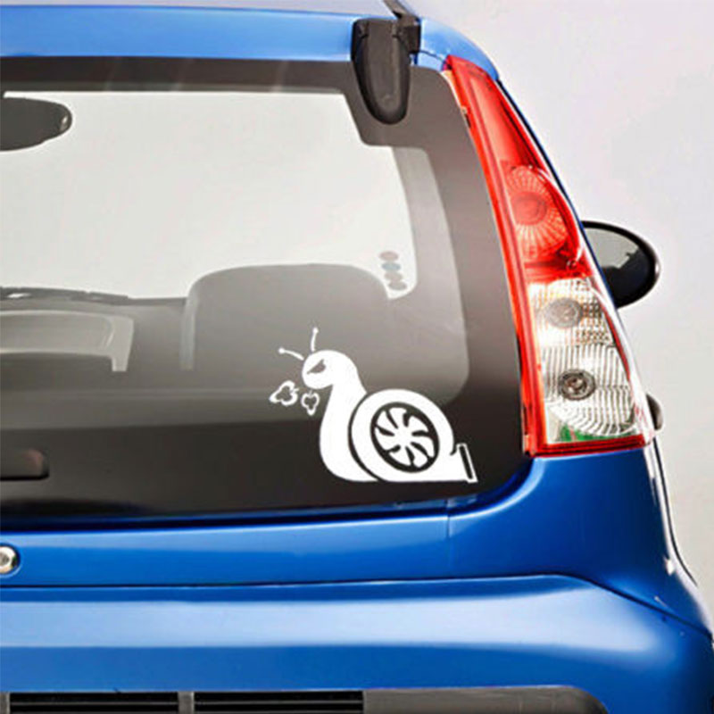 1pc SEEYULE Boost Snail Turbo Funny Car Stickers reflective material Decal car-styling Accessories for VW BMW Skoda Ford Honda