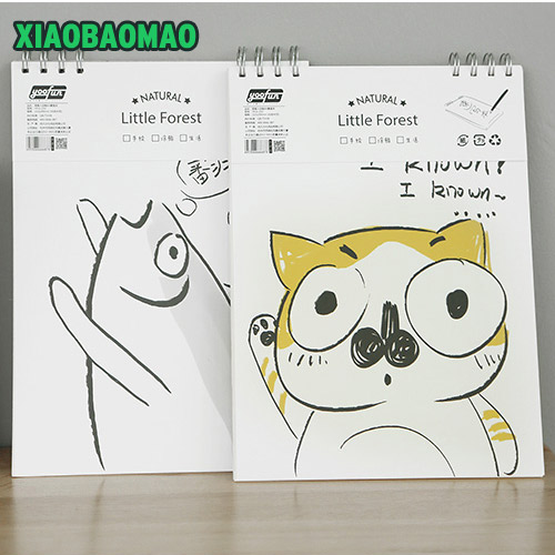 New South Korea cute cartoon graffiti sketch of the painting of the A4 sketchbooks this blank coil
