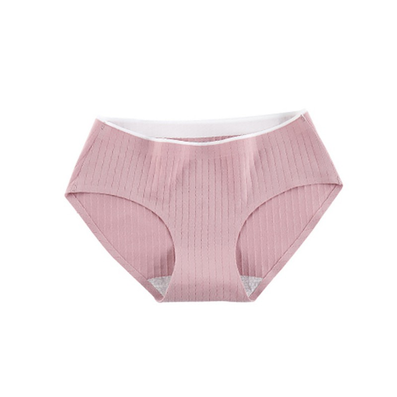 Seamless Women's Cotton Airy Stretchy Seamless Solid Color Underwear Panties Briefs Knickers Underpants Underwear Lingerie
