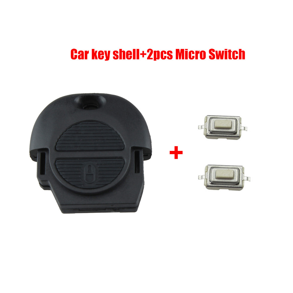 Remote Fob Key Shell for Nissan Micra Almera Primera X-Trail 2 Buttons Car Key Case Cover No Blade+2 Micro SwitchRemote Fob Key Shell for Nissan Micra Almera Primera X-Trail 2 Buttons Car Key Case Cover No Blade+2 Micro Switch