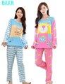 2017 Verão Mulheres Femme Cuecas Engraçado Bonito Dos Desenhos Animados Pijama Pijama de Vaca jogos Para Adultos Assecla Roupa Em Casa 2 Peça Pant e Top