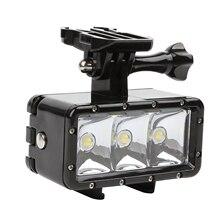 30 M Lặn Đèn LED Chống Thấm Nước Nhẹ Dưới Nước Chiếu Sáng cho Hero6/5 cho Xiaoyi 4 K SONY H9 SJCAM SJ4000 SJ5000