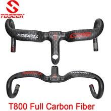 TOSEEK UD full carbon fiber road bike manillar integrado manillar doblado matte28.6 * 400/420440*90/100/110/120mm piezas de la b