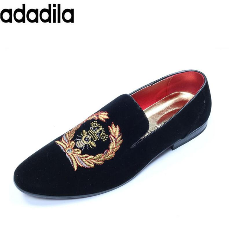 Shoes men velvet loafers embroidered men loafers luxurious men dress shoes men casual shoes handmade breathable