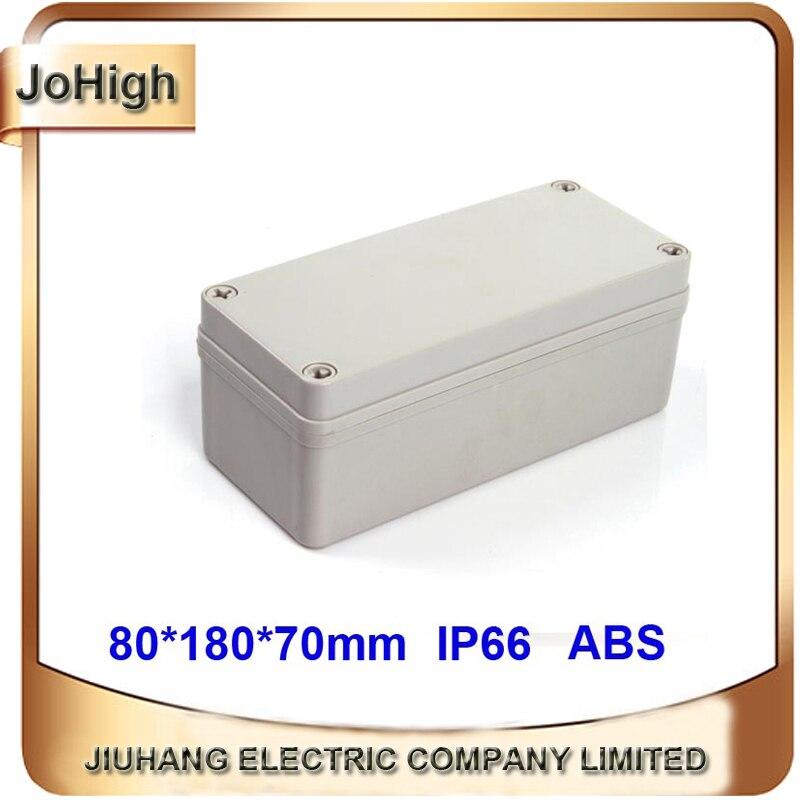 Waterproof Plastic Enclosure Case Power Junction Box 80*180*70mm waterproof enclosure junction box 2in2out