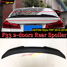 F33 Tail Spoiler Wing FRP Unpainted PSM style Fits For BMW 4-Series 2-doors 420i 430i 435i rear trunk wing 2014-2018