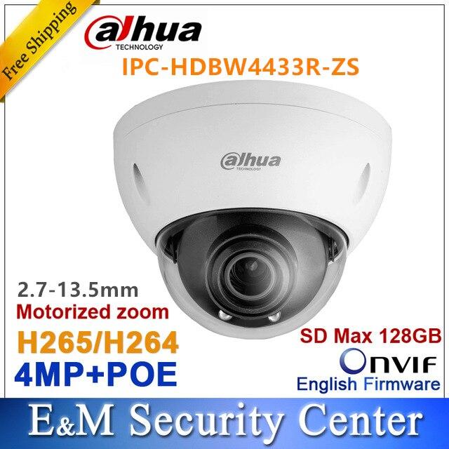 Original dahua 4MP dome camera IPC HDBW4433R VFAS replace IPC HDBW4431R VFAS POE SD card slot