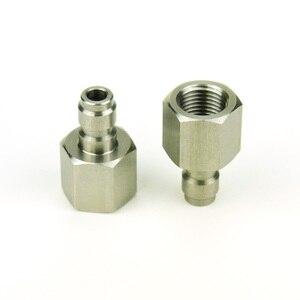 Image 2 - New ペイントボールエアガン PCP エアガンクイックディスコネクト充電ホースアダプター糸 1/8NPT & 1/8BSP & m10 * 1 ステンレス鋼乳首記入