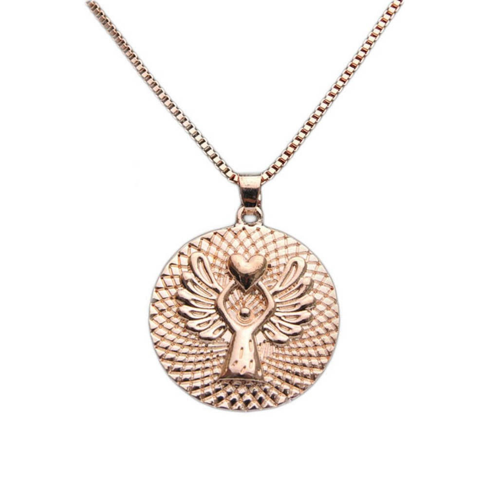 Trendy Drop Shipping Charming Jewelry Guardian Angel Necklace Love Letters 2 Colors Gold White 60CM 0941
