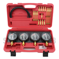 4 Cylinder Balance Gauge Fuel Vacuum Carburetor Synchronizer Gauge Set Kit Rubber Hose New Made In Taiwan